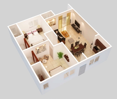 2 Bedroom Floor Plan - Option A