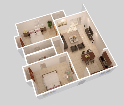 2 Bedroom Floor Plan - Option B
